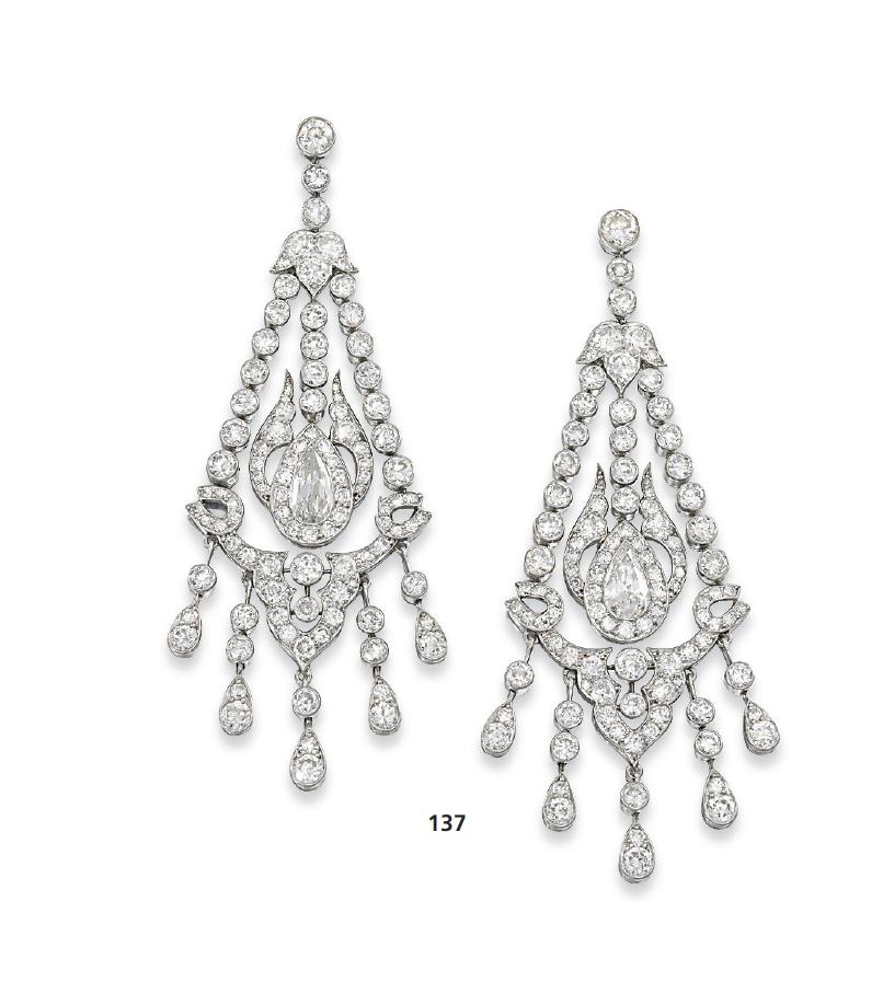 Marie Poutine's Jewels & Royals: Diamond Chandelier Earrings