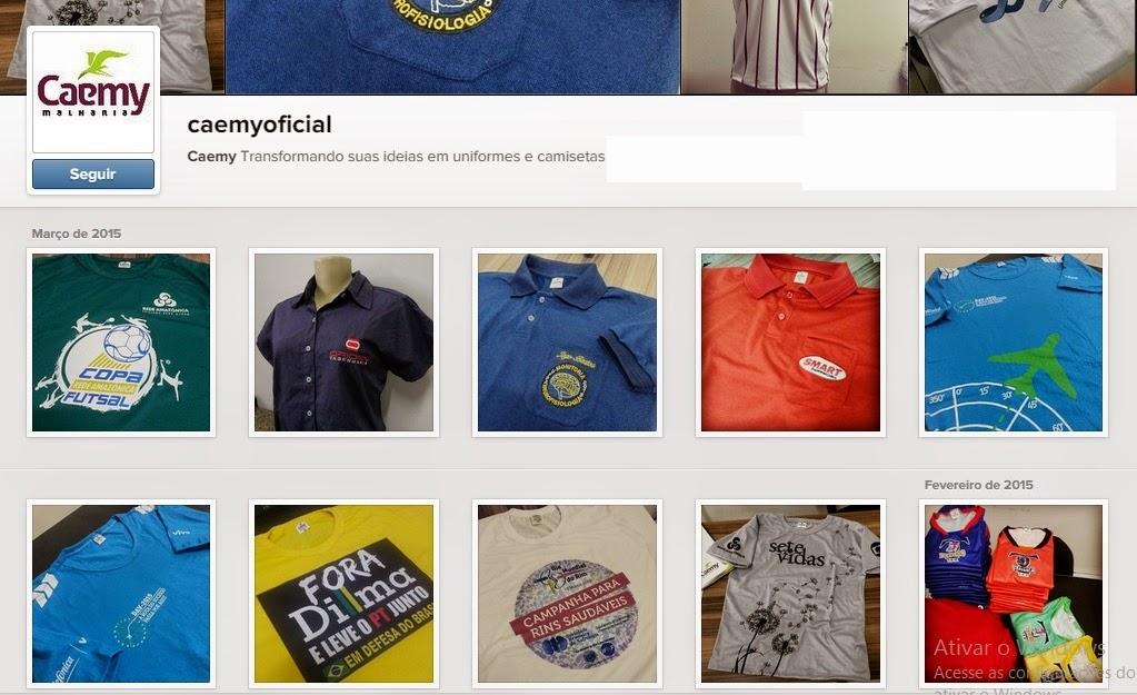 f5543e0738b43 Nós aqui da Caemy temos o prazer em lhe convidar para visitar nossa galeria  online de camisetas e uniformes personalizados no Instagram!