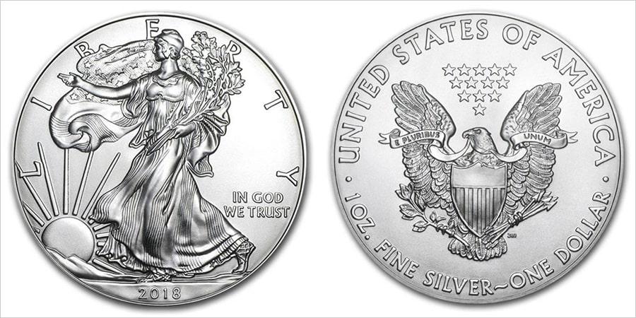 Современный серебряный доллар – Идущая Свобода
