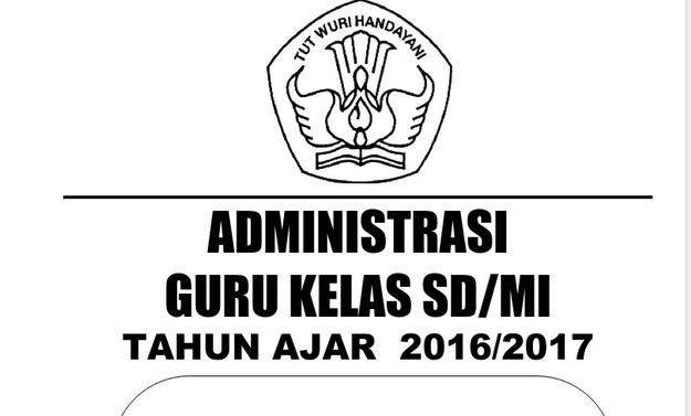Aplikasi & Administrasi Guru Profesional SD/MI Tahun ajar 2016/2017 Lengkap