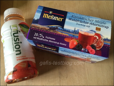 Ovio InFushion Strawberry & Elderberry Drink und Meßmer Tee - Kanadischer Maple Waldfrüchte mit Ahornsirup