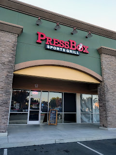 PressBox Sports Grill in Clovis, California -- deanandmindywalkintoabar