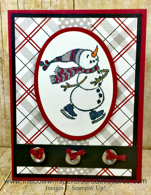 Card, Spirited Snowmen, Galvanized Buttons, Festive Farmhouse Designer Series Paper