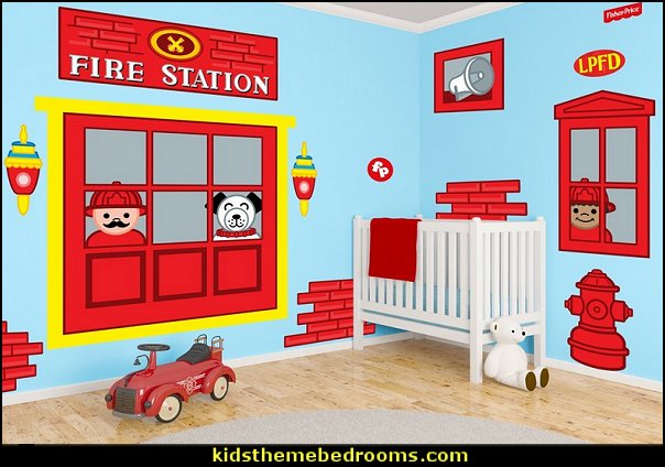 Fire Station Decals fire truck bedroom decor - Firefighter bedding - fireman bedding - fire truck bedroom decorating ideas - flames bedding - Fire Engine Beds - Fire truck bedrooms - dalmatian theme bedrooms