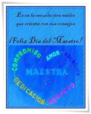 Tarjeta Día Del Maestro Feliz Día Del Maestro Poesías Al