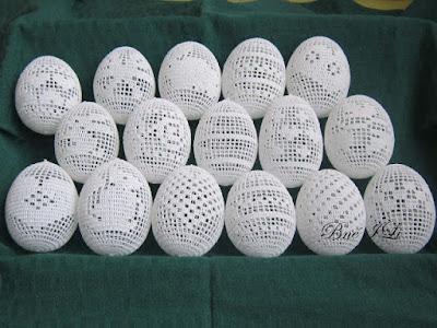 jajka w siatce filet wzory