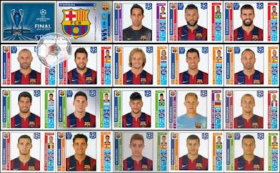 Champions League Panini 2014/15 barcelona