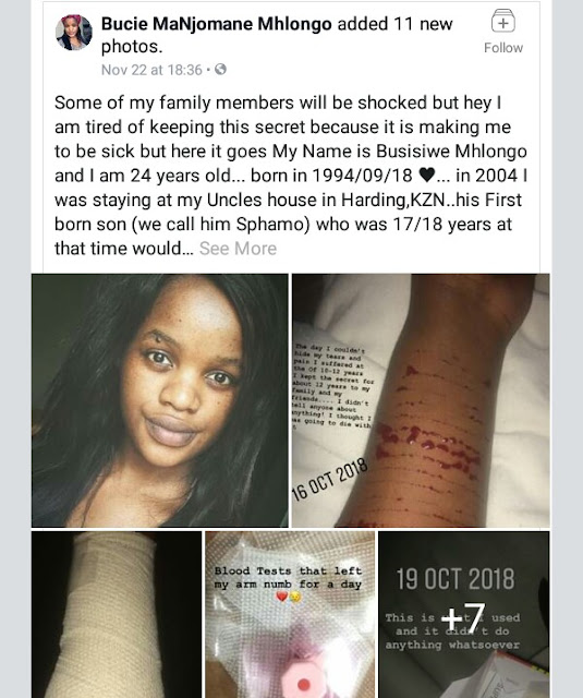 Photos: South African woman who was raped from age 10 by her uncle