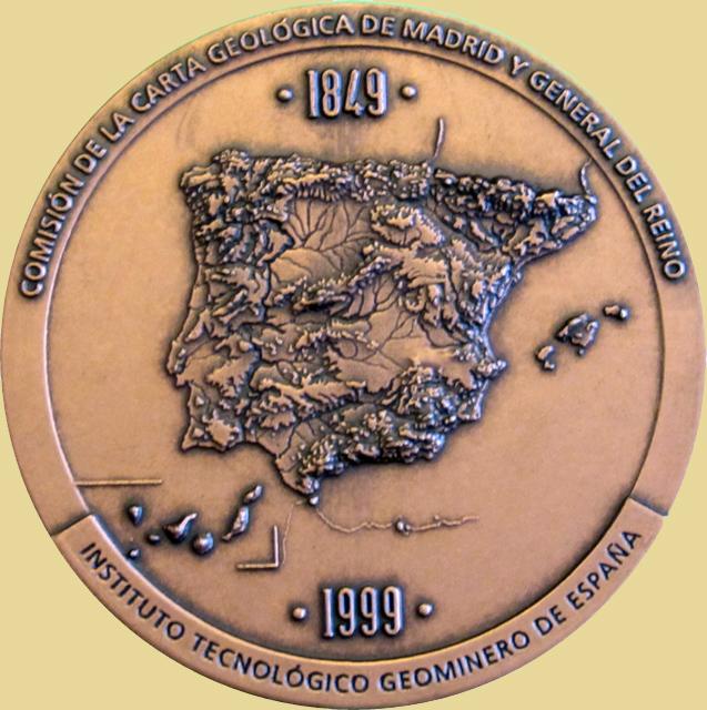 Medalla del 150 Aniversario de la Comisión de la Carta Geológica minera, 1999