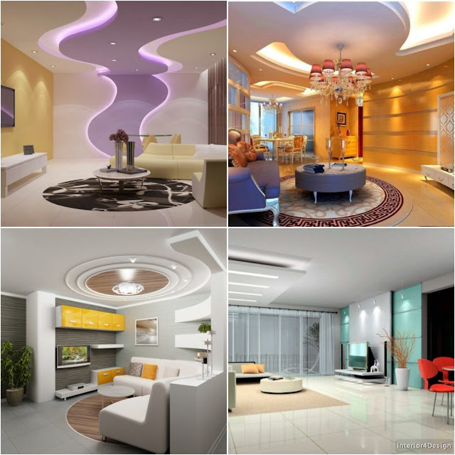 20 Gypsum Board False Ceiling Designs For More Distinctive Houses