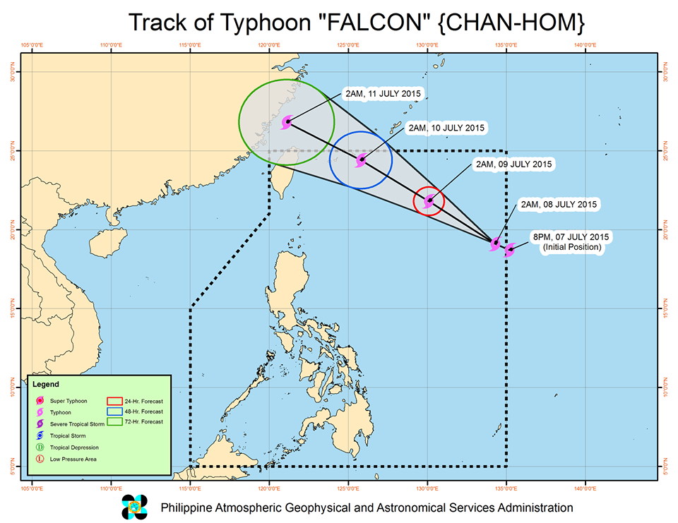 track typhoon Falcon