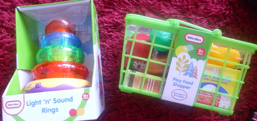 Yorkshire Blog, Mummy Blogging, Parent Blog, Asda, Little Tikes, Review, Toys, Play Food shopper, Light N Sound Rings,