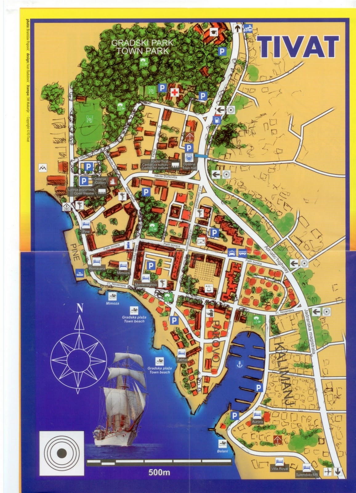 tivat mapa Long term rentals in the Tivat Riviera, Montenegro.: Tivat Maps tivat mapa