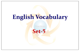 English Vocabulary Set-5 (with meaning and example)