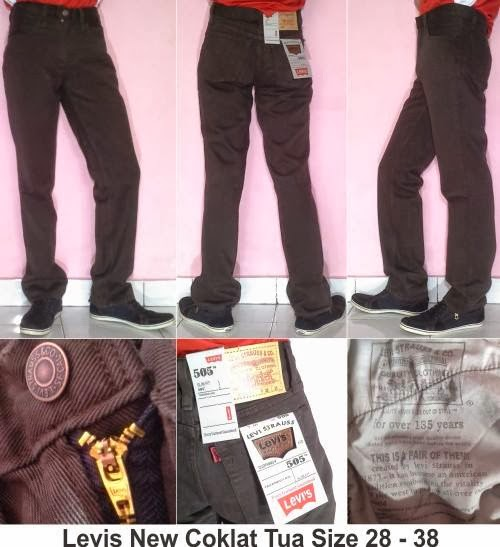 Jeans Levi's Standar Coklat