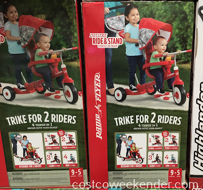 Take your toddler and/or young child for a ride in the Radio Flyer Deluxe Ride & Stand Stroll 'N Trike