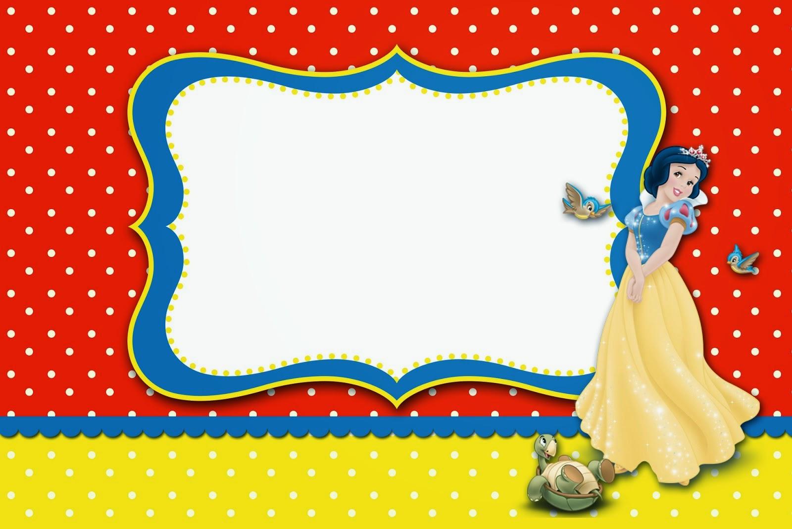 snow white invitation template - Forte.euforic.co