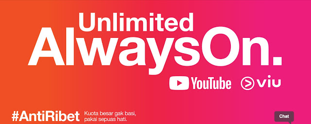 Unlimited Always ON Gratis Chatting WA & LINE, YouTube & Streaming Viu, Paket Tri Termurah #AntiRibet