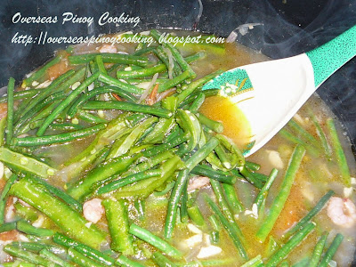 Ginisang Sitaw at Sigarillas - Cooking Procedure