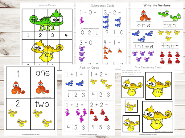 Chameleon-colors-preschool-worksheets