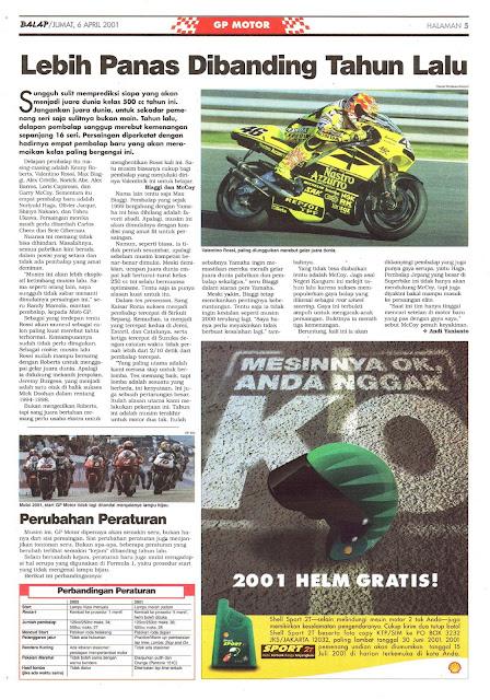 BALAP GP MOTOR: LEBIH PANAS DIBANDING TAHUN LALU