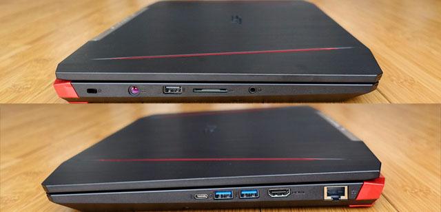 portas, entradas e conexões notebook gamer acer vx5