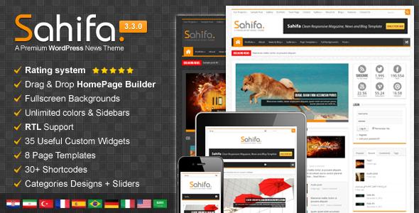 Sahifa Responsive Theme For Wordpress Free Download