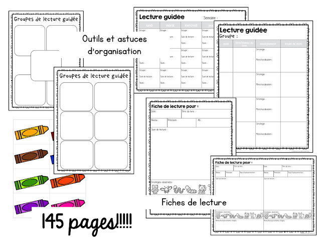 Looking for French Guided Reading help for your primary students? Check out this blog post for a sample routine, organization tips, and a FREE reading strategies poster & cheat sheet of ideas for teaching 7 essential reading strategies!