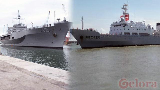 Kapal Perang AS Berlabuh di Jakarta, Kapal Perang China Bersandar di Surabaya