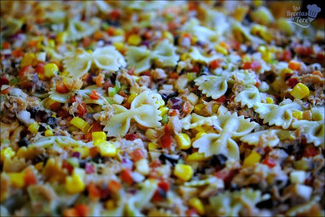 Ensalada de pasta atún y vegetales tererecetas 04