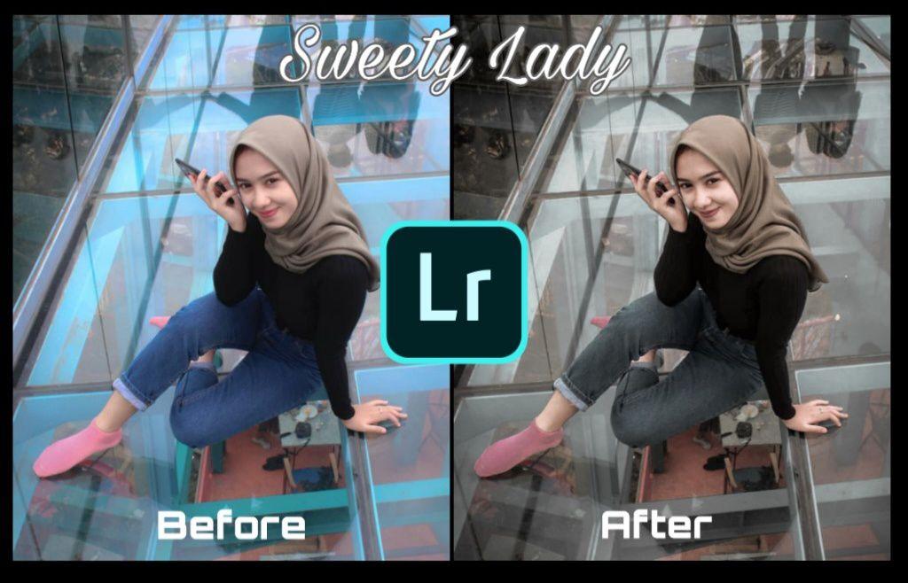 Cara Membuat Efek Sweety Lady Dengan Lightroom Android