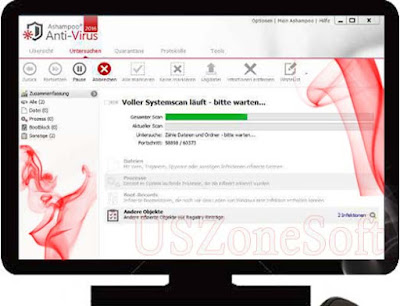 Ashampoo Anti Virus actually any virus, Trojan, Malware, Adware, Worms, Spyware threat scanner, remover and cleaner program