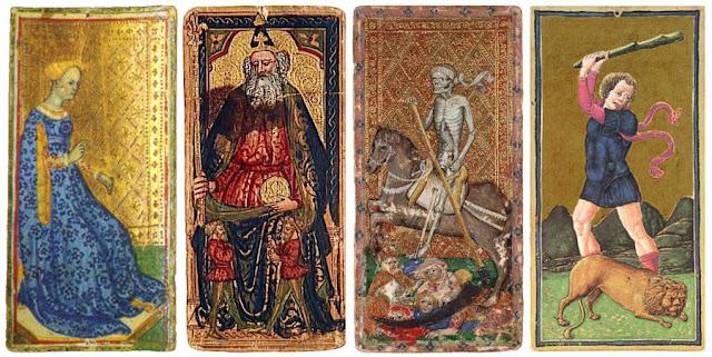 Cartas de tarot de los mazos Visconti-Sforza