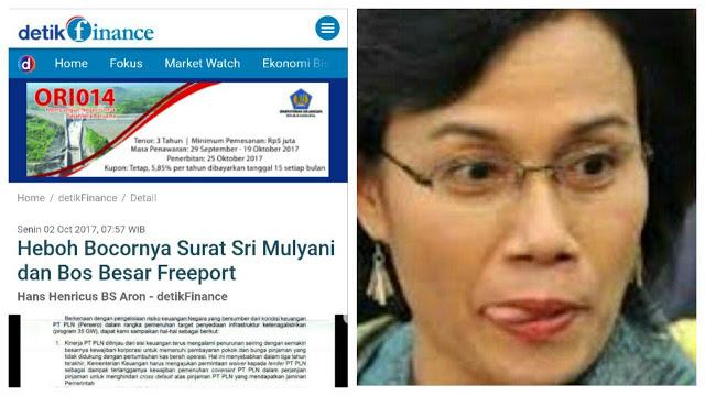 Heboh Bocornya Surat Sri Mulyani dan Bos Besar Freeport