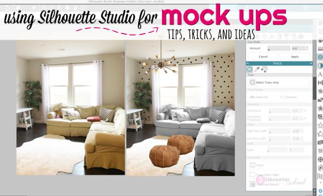 Silhouette Studio designer edition tutorials, Silhouette Studio Software tutorials, silhouette studio mock ups, silhouette studio mockup