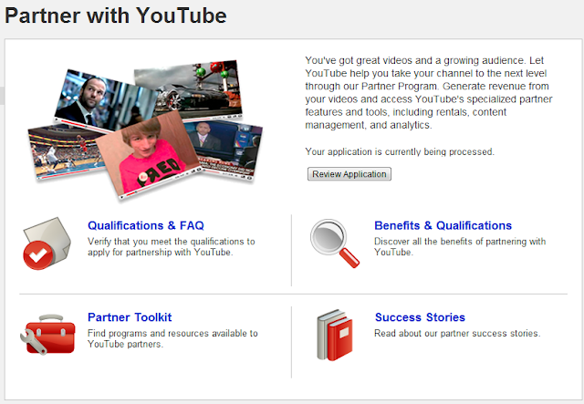 Update on YouTube Partner Program applications - May take till June for Monetization