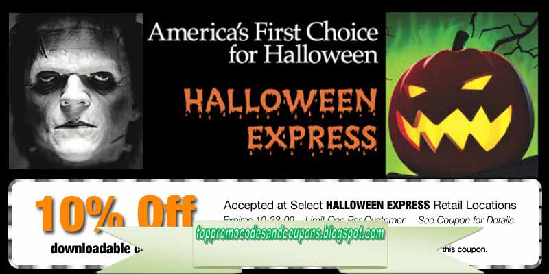 graphic regarding Halloween Express Printable Coupon known as Totally free Promo Codes and Coupon codes 2019: Specific Discount codes