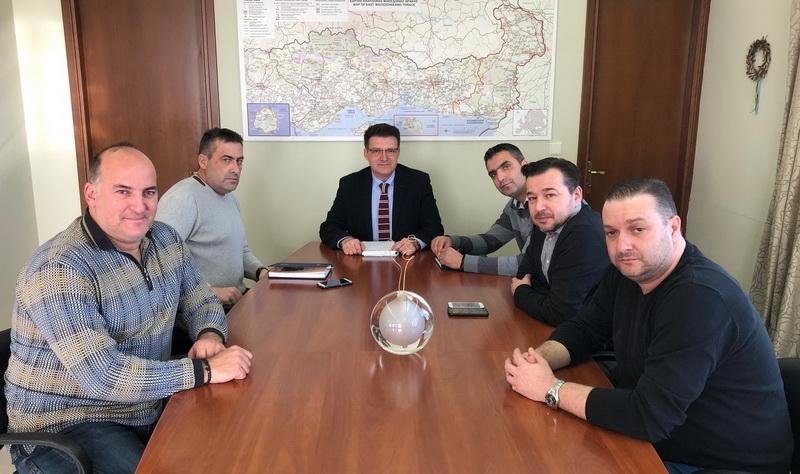 Συνάντηση Πέτροβιτς με το Δ.Σ. της Ένωσης Συνοριακών Φυλάκων Νομού Έβρου