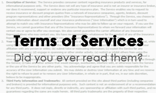 điều khoản dịch vụ