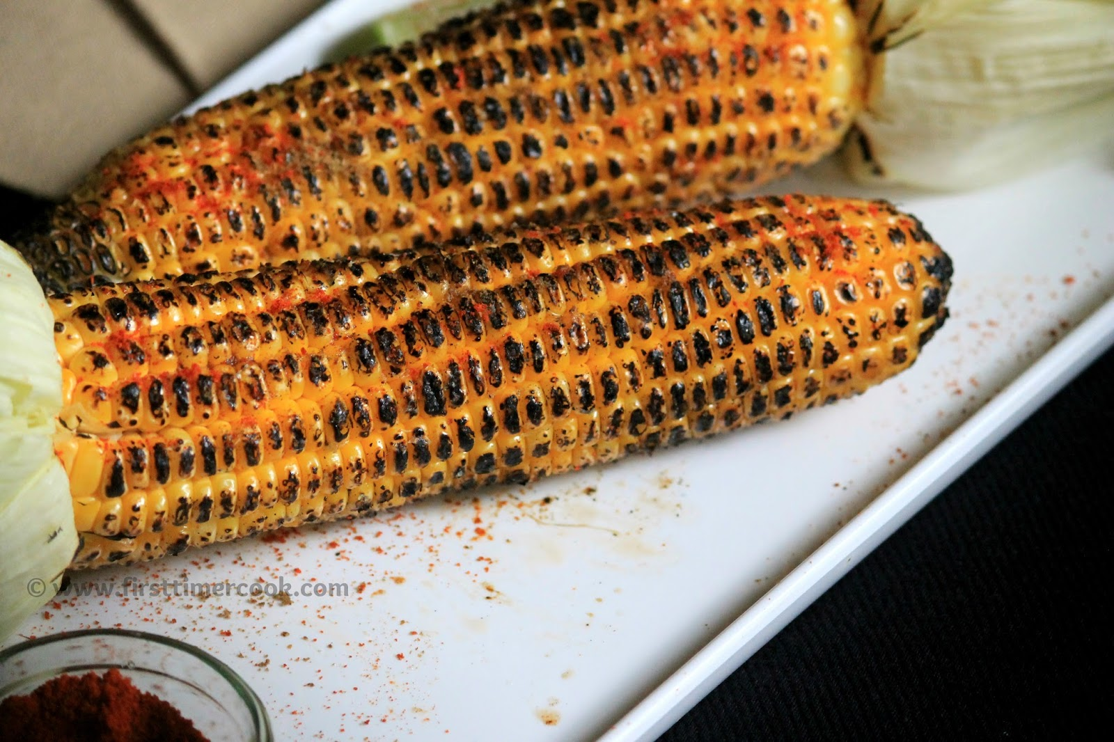 First Timer Cook: Grilled Corn on Cob with Chili-Lime-Butter