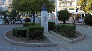 η προτομή του Στυλιανού Μαυρομιχάλη στην Καβάλα