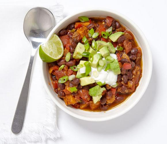 WEIGHT WATCHERS Smoky Black Bean and Sweet Potato Chili