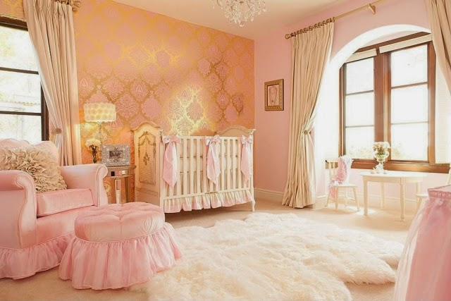Dormitorios de lujo para beb s dormitorios colores y estilos for Cuarto lleno de rosas