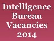 Intelligence Bureau Vacancies 2014 image
