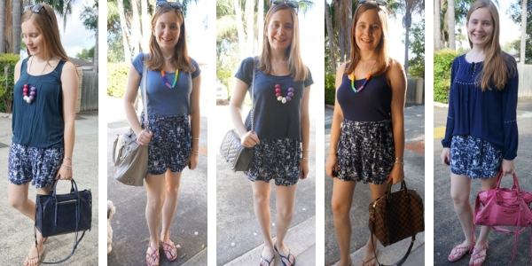 5 ways to wear different monochrome printed shorts outfits | awayfromtheblue