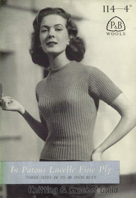 Vintage 1950s knitting pattern