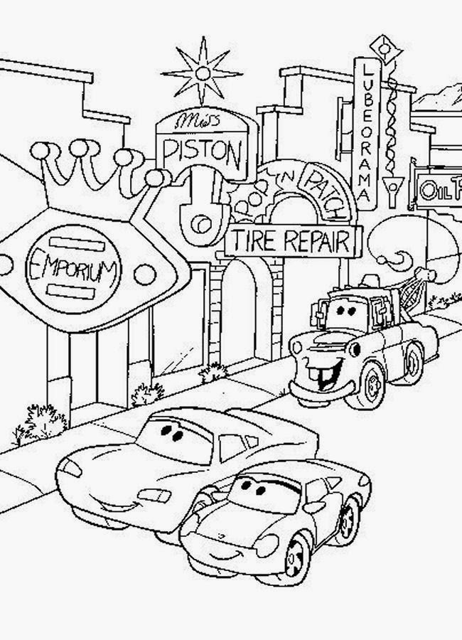 cars toons coloring pages - photo#46
