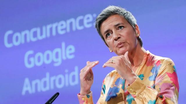 Google fined record US$5 billion by EU