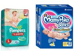Baby Diapers (Mamy Poko, Pampers, Huggies)  – Minimum 30% Off @ Flipkart
