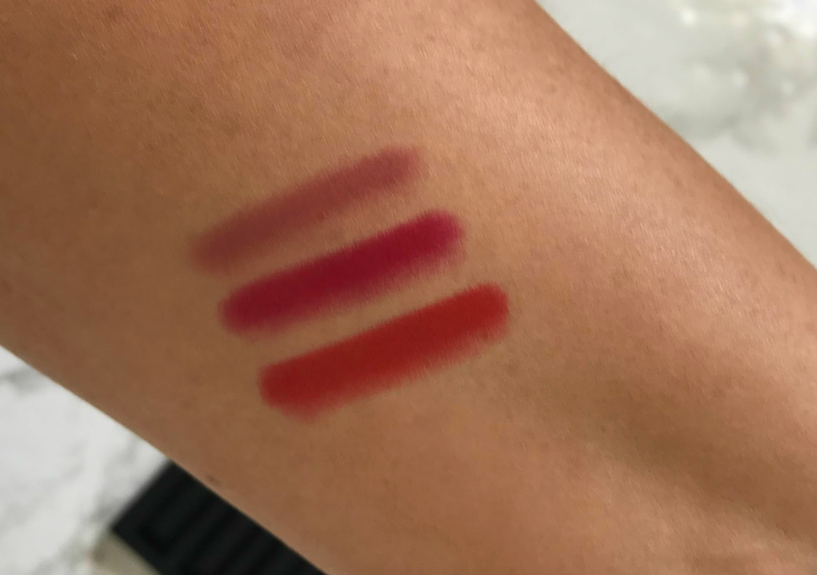 Nars Matte Velvet Lip Pencil Swatches Dolce Vita, Dragon Girl Red Square